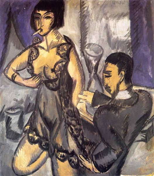 Couple in a Room - Ernst Ludwig Kirchner
