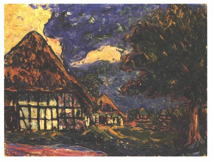 Image result for Ernst Ludwig Kirchner Fehmarn Houses (1908, Städel Museum, Frankfurt am Main)