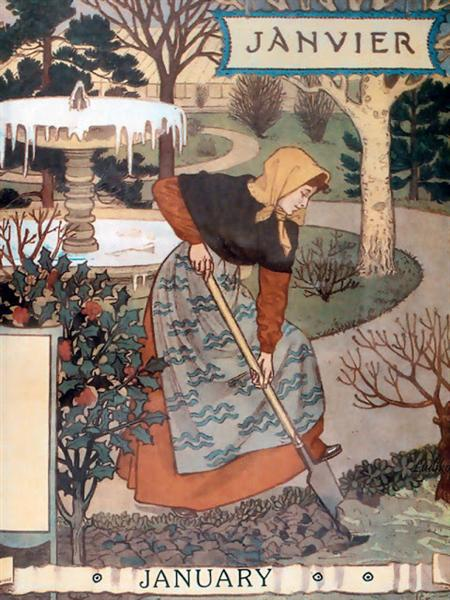 La Belle Jardiniere – January, 1896 - Eugène Grasset