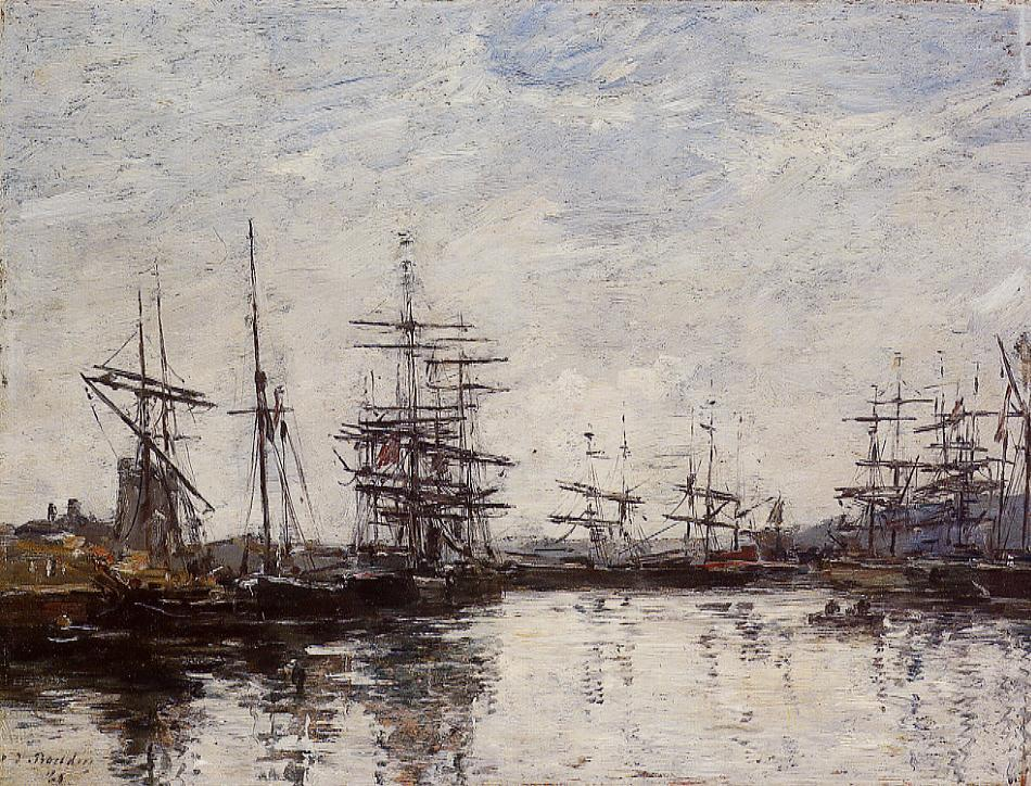 Deauville, the Harbor, 1880