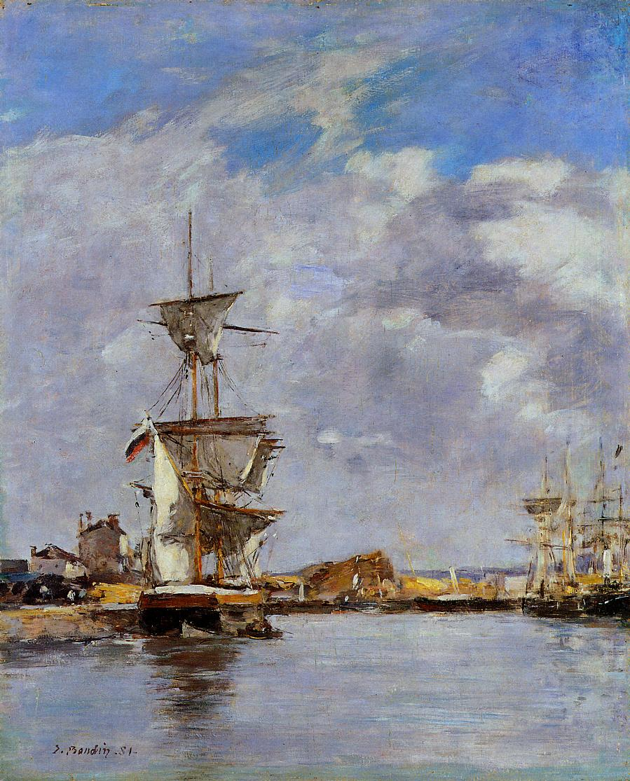 Deauville, the Harbor, 1881