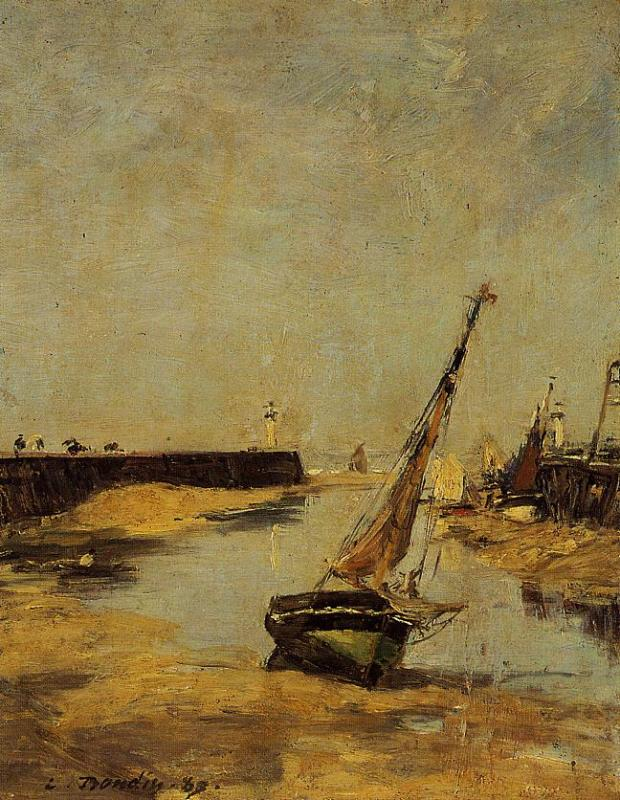 Trouville, the Jettys, Low Tide, 1883