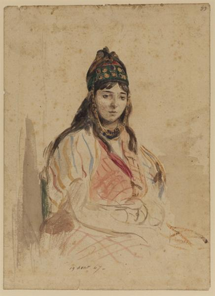 A North African Jewess, 1847 - Eugene Delacroix