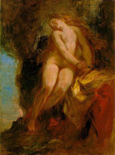 Andromeda, c.1852 - Eugene Delacroix