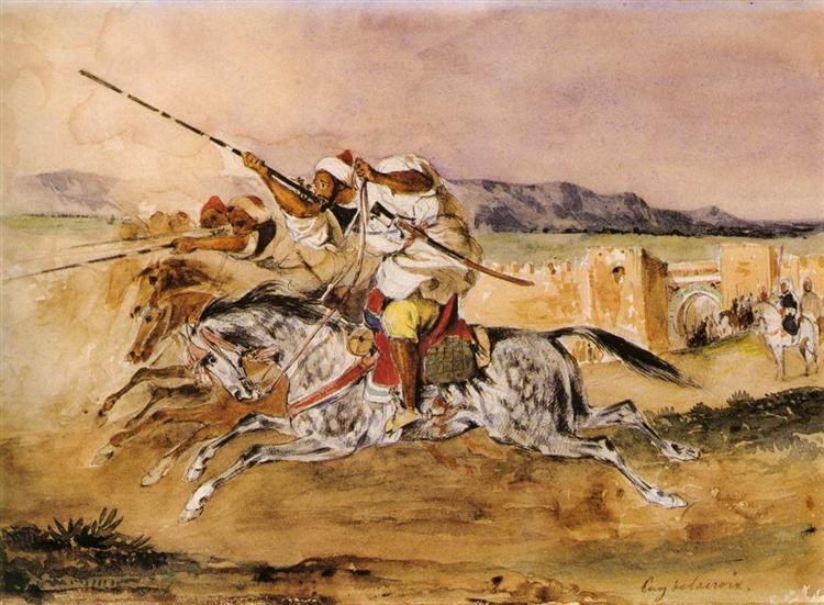 Arab Fantasia, 1832 - Eugene Delacroix