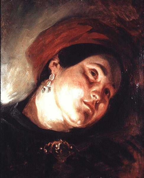 Head of a Woman in a Red Turban, 1831 - Eugene Delacroix