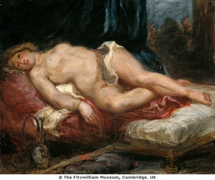 Одалиска, c.1825 - Эжен Делакруа