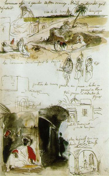Page from the Moroccan Notebook, 1832 - Eugene Delacroix