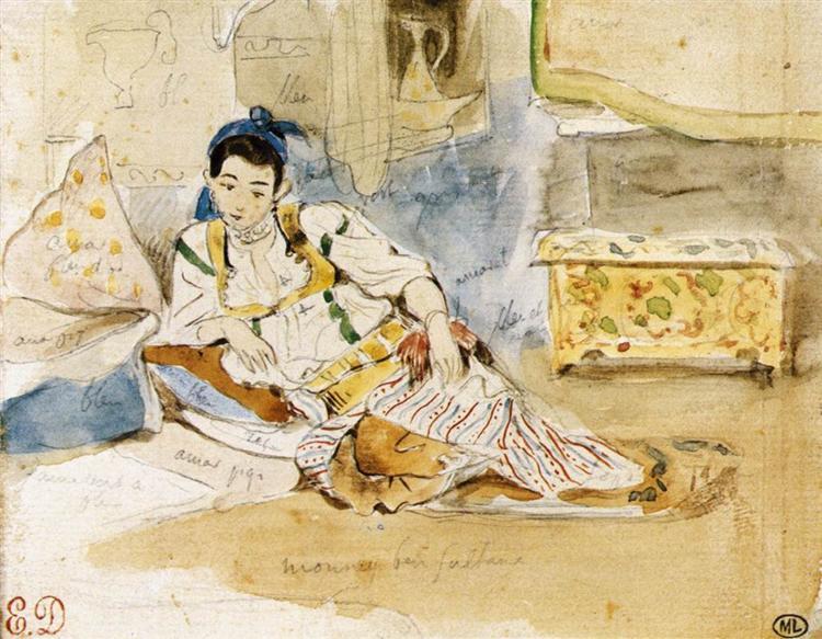 Sketch for the Women of Algiers, 1832 - Eugene Delacroix