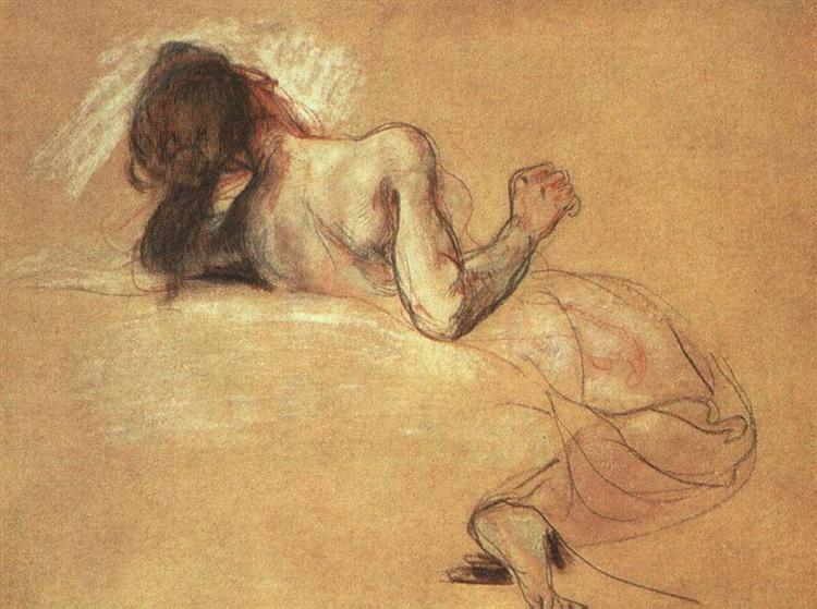 Study Sardanapalus, 1827 - 1828 - Eugene Delacroix