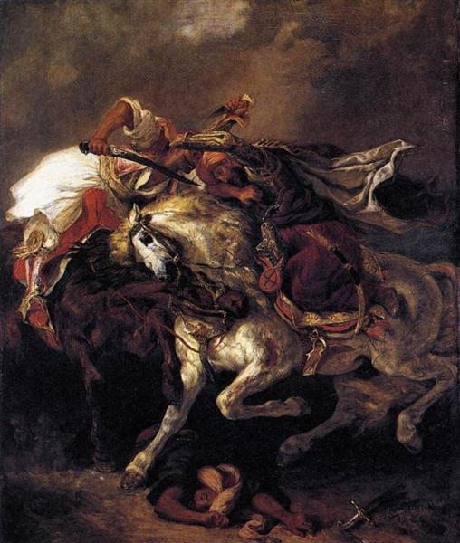 The Battle of Giaour and Hassan, 1835 - Eugene Delacroix