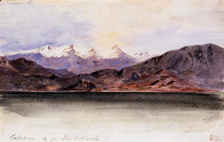 The Coast of Spain at Salabrena, 1832 - Eugène Delacroix