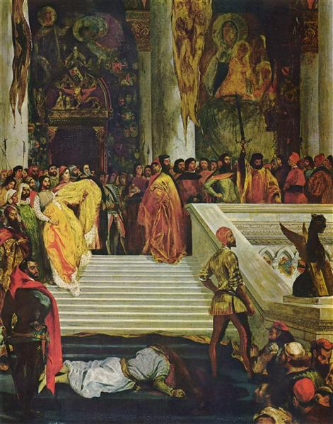 The Execution of the Doge Marino Faliero, 1825 - 1826 - Eugene Delacroix
