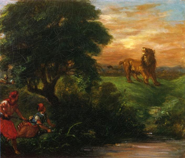 The Lion Hunt, 1859 - Eugene Delacroix