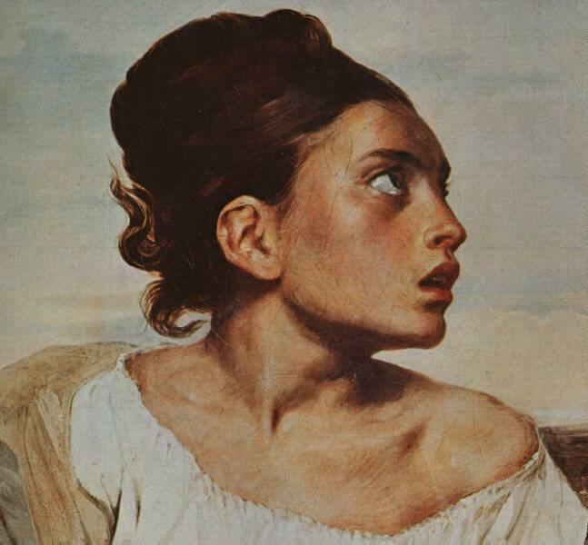 The Orphan Girl at the Cemetery, 1823 - 1824 - Eugene Delacroix