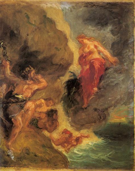 Winter Juno And Aeolus, 1862 - Eugene Delacroix