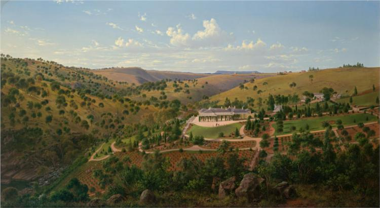 Mr Clark's Station, Deep Creek, near Keilor, 1867 - Eugene von Guerard