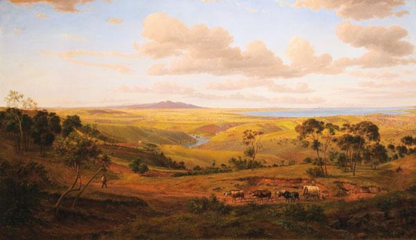 View of Geelong, 1856 - Ойген фон Герард