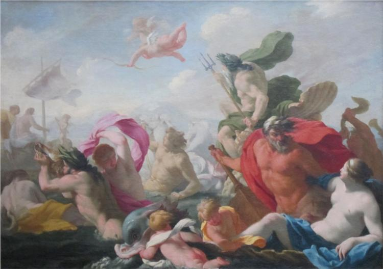 Marine Gods Paying Homage to Love, 1638 - Eustache Le Sueur
