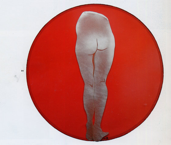 Cercle vicieux rouge, 1968 - Evelyne Axell