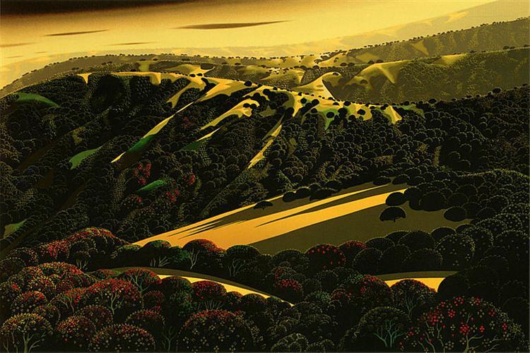 Santa Cruz Mountains, 1971 - Eyvind Earle
