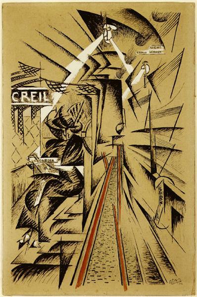 Railroad, 1914 - Félix Del Marle