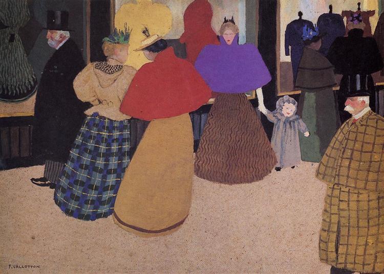 Passerby (also known as Street Scene), 1897 - Felix Vallotton