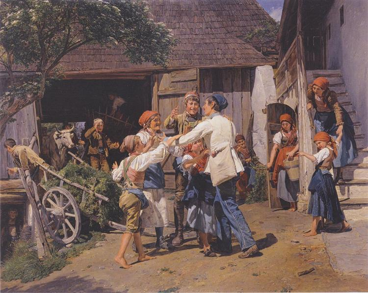 Homecoming into the fathers house, 1855 - Ferdinand Georg Waldmüller