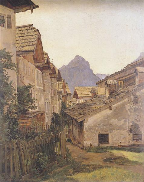 Pfamgasse in St. Wolfgang, 1835 - Ferdinand Georg Waldmüller