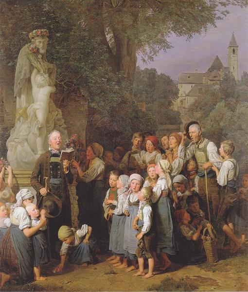 The veneration of St. John Nepomuk, 1844 - Ferdinand Georg Waldmüller