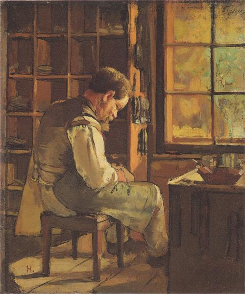 The cobbler by the window, 1882 - Ferdinand Hodler