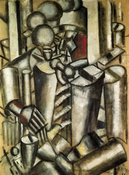 Soldier with a pipe - Fernand Leger