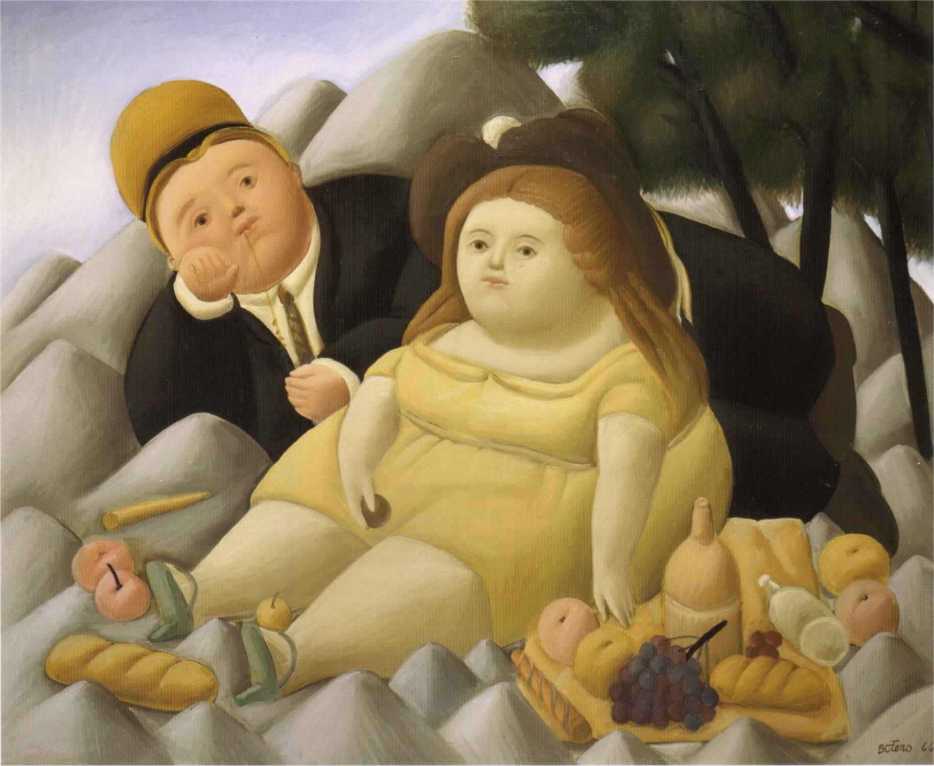 Bien-aimé Picnic in the Mountains, 1966 - Fernando Botero - WikiArt.org JL45