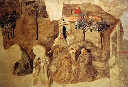 Confirmation of the Carmelite Rule, c.1432 - Filippo Lippi