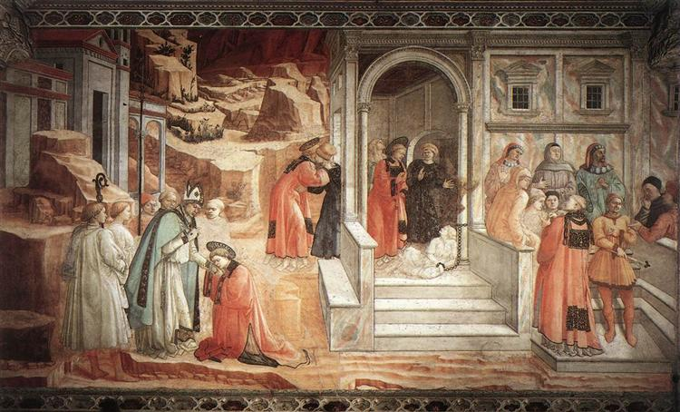 Disputation in the Synagogue - Filippo Lippi