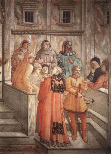 Disputation in the Synagogue  (detail), 1465 - Filippo Lippi