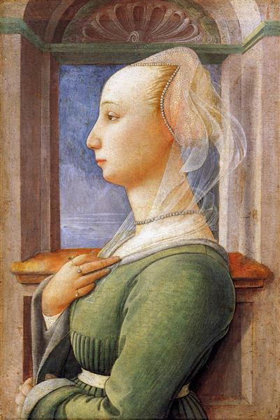 Portrait of a Woman, 1440 - Filippo Lippi