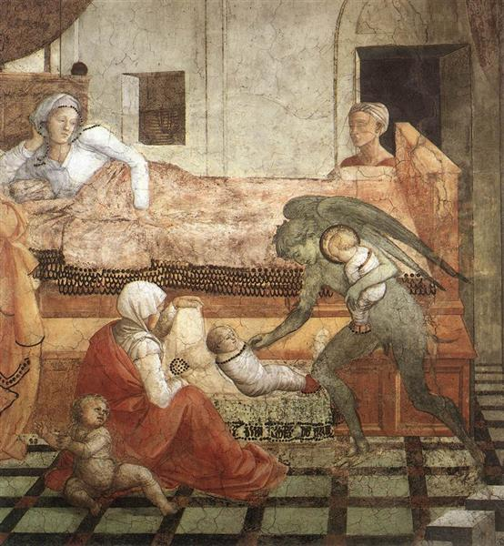 The Birth and Infancy of St. Stephen (detail), 1452 - 1465 - Filippo Lippi