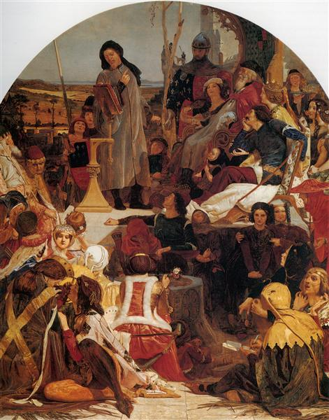 Chaucer at the Court of Edward III, 1847-1851 - Ford Madox Brown