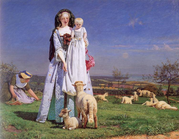 Pretty Baa Lambs 1852 Ford Madox Brown Wikiart Org