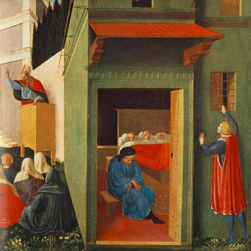 The Story of St. Nicholas: Giving Dowry to Three Poor Girls - Fra Angelico