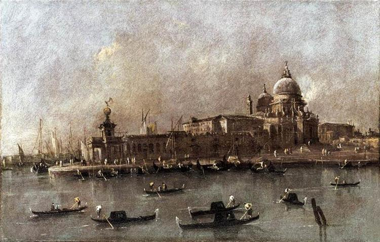 Venice: A View of the Entrance to the Grand Canal - Guardi Francesco