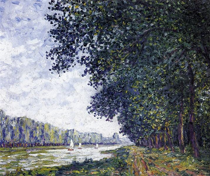 Banks of the Orne at Benouville, 1908 - Francis Picabia