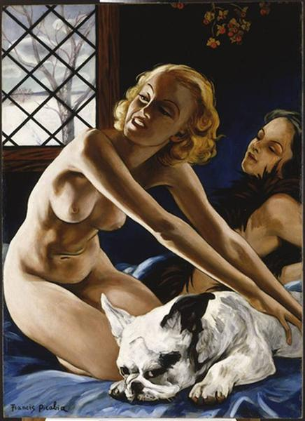 Women and Bulldog, 1941 - 1942 - Francis Picabia