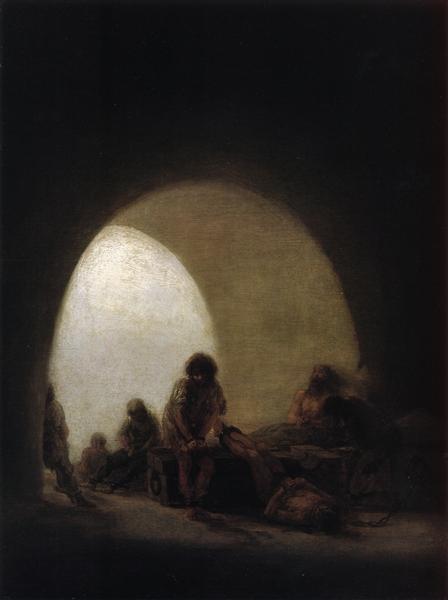 A Prison Scene, c.1808 - c.1814 - Francisco Goya