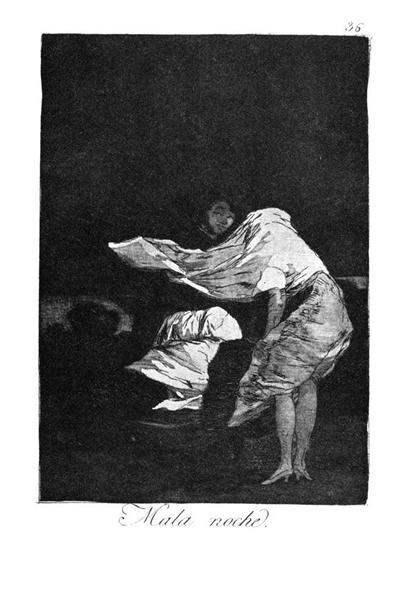 Bad night, 1799 - Francisco Goya