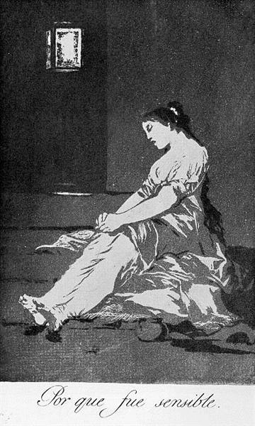 Because she was susceptible, 1799 - Francisco Goya