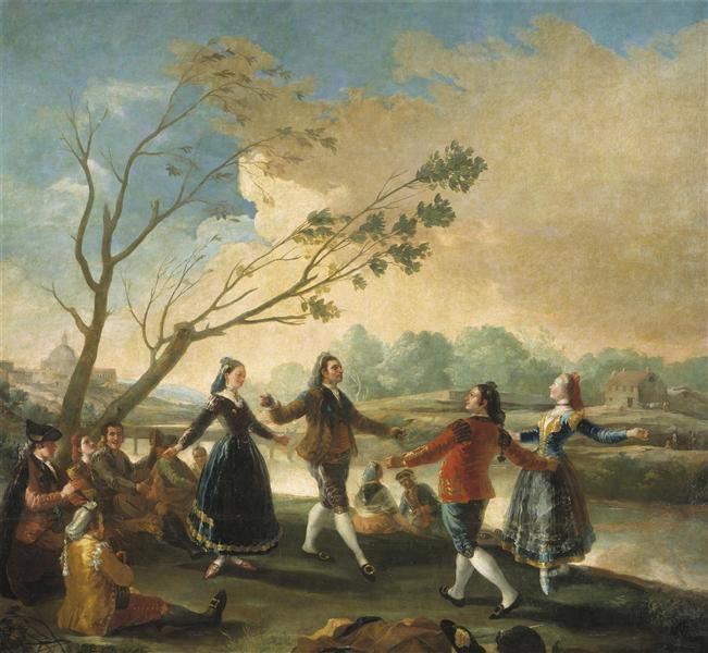 El baile a orillas del Manzanares, 1777 - Francisco de Goya