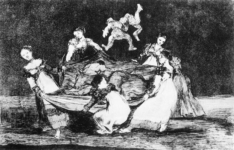 Feminine Folly, c.1819 - c.1824 - Francisco Goya