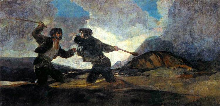 Fight With Cudgels, 1820 - 1823 - Francisco Goya